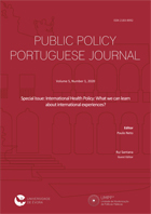 Public Policy Portuguese Journal, Volume 5, Number 1, 2020